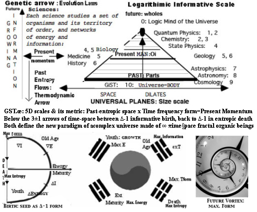 TIME space DIMENSIONS GST.œ tenants-scalar fractal spacetime