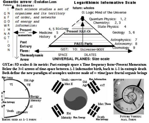 TIME space DIMENSIONS GST.œ tenants-scalar fractal spacetime